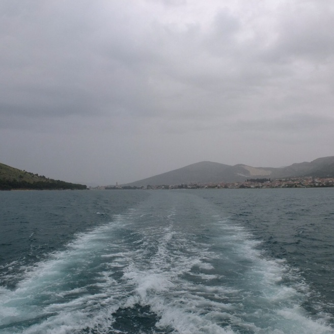 view from the ferry to split