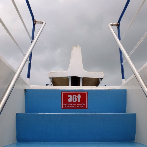 on the boat to split