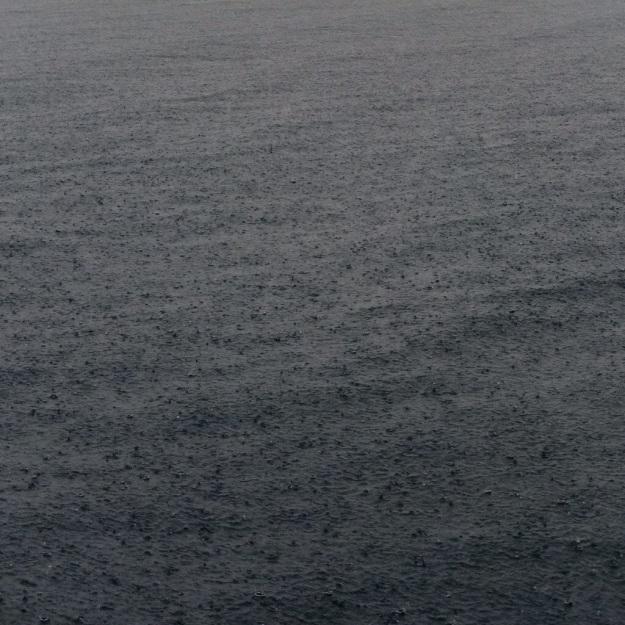 rainy croatian sea