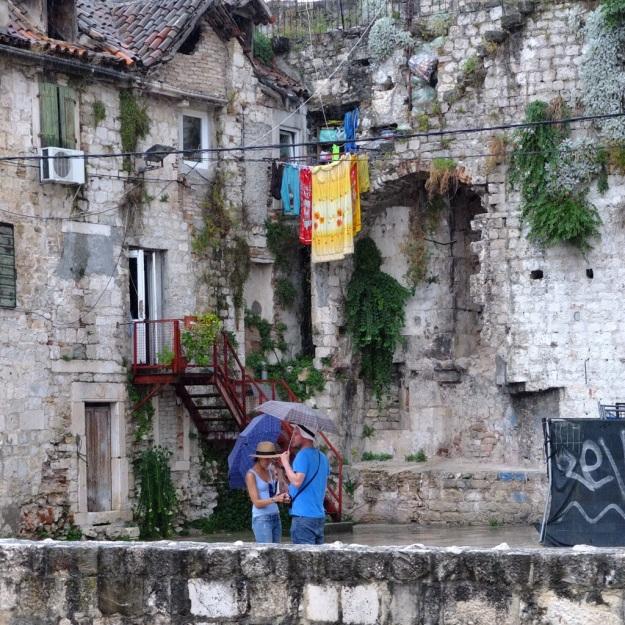 laundry hanging outside in split croatia