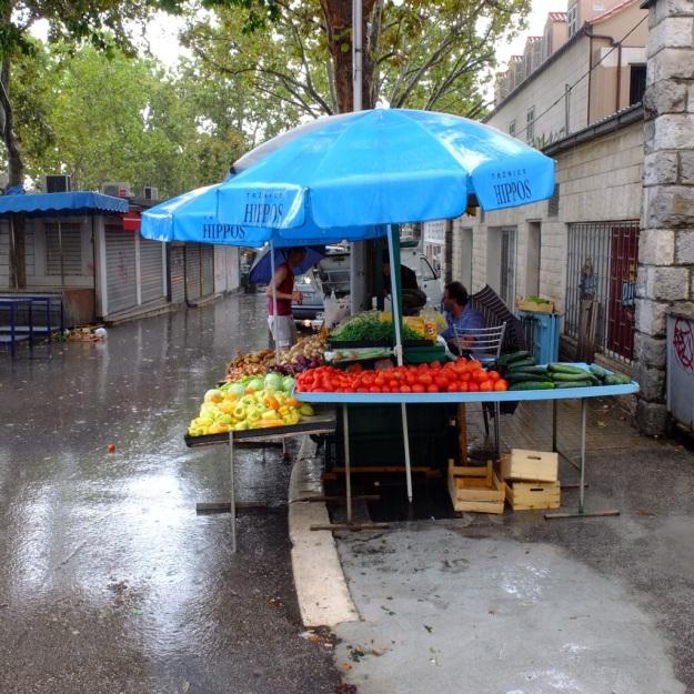 market in split croatia