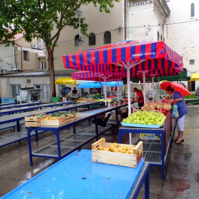 market in split croatia