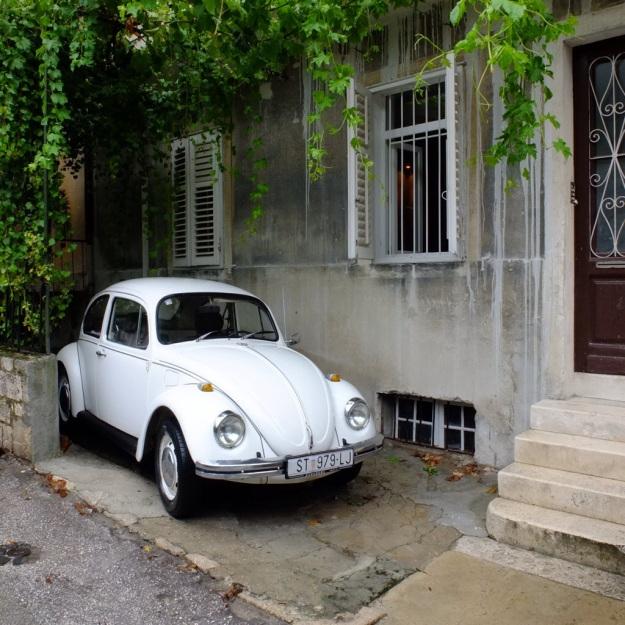 rainy streets in split croatia