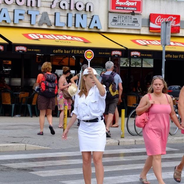 traffic warden in split croatia