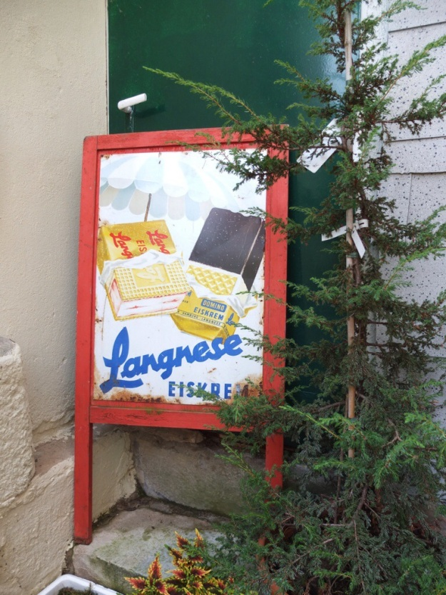 vintage advertising for Langnese