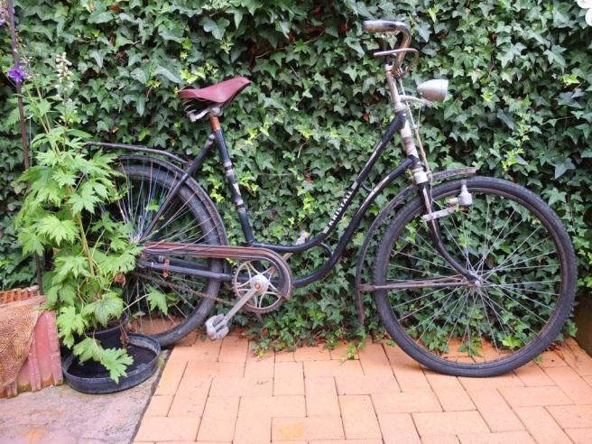 Fahrrad im alten Stadthaus in Alfeld