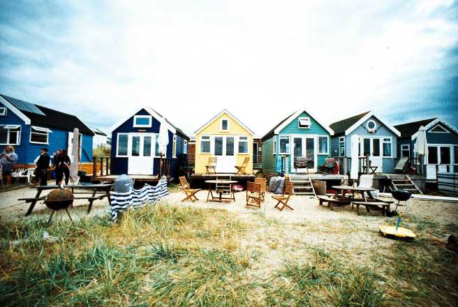 Beach huts in Mudeford