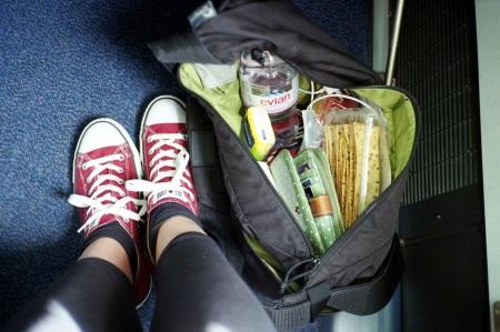 my legs on a plane