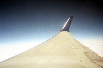plane wing view