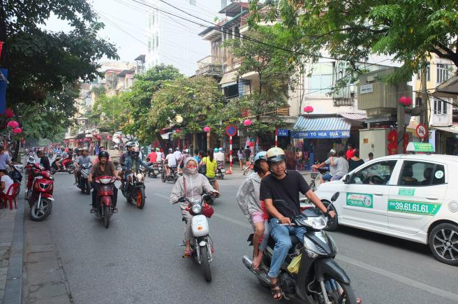 Hanoi streets and traffic